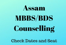 Assam MBBS and BDS Counselling