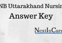 Uttarakhand Nursing Answer Key