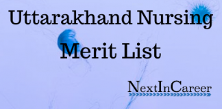 Uttarakhand Nursing Merit List