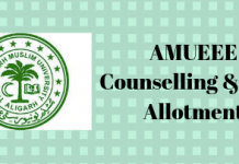 AMUEEE Counselling & Seat Allotment