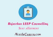 Rajasthan LEEP Counselling