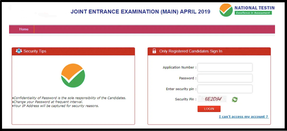 JEE Main 2020 application correction login