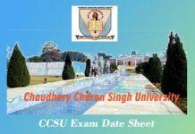 CCS University Date Sheet