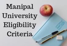 Manipal University Eligibility Criteria