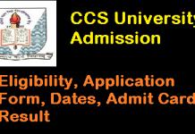 CCS University Admission