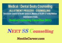 NEET SS Counselling 2019
