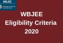 WBJEE Eligibility Criteria 2020