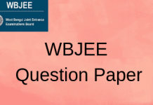WBJEE Question Paper