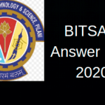 BITSAT Answer Key 2020