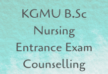 KGMU B.Sc Nursing Entrance Exam Counselling