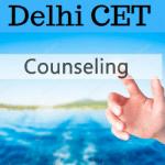 Delhi CET Counselling