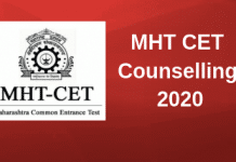 MHT CET Counselling 2020