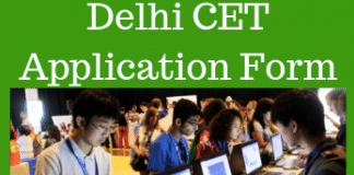 Delhi CET Application form