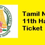 Tamil Nadu 11th Hall Ticket