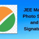 JEE Main Photo size and signature