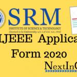 SRMJEEE Application Form 2020