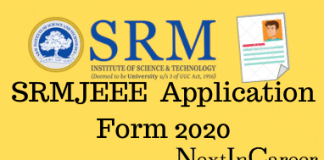 SRMJEEE Application Form 2020