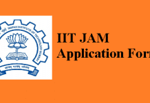 IIT JAM Application Form