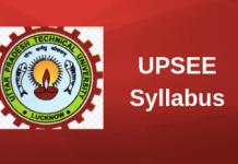 UPSEE Syllabus