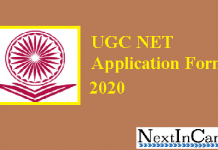 UGC NET Application Form 2020