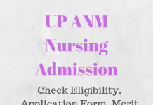 UP ANM Nursing Admission