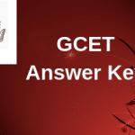 GCET Answer Key