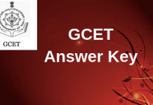 GCET Answer Key