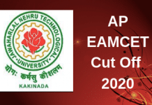 AP EAMCET Cut Off 2020