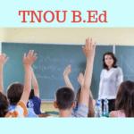 TNOU B.Ed