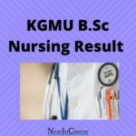 KGMU B.Sc Nursing Result