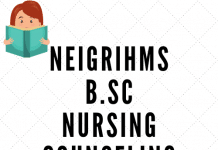 NEIGRIHMS B.Sc Nursing Counseling 2019
