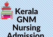 Kerala GNM Nursing Admission