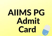 AIIMS PG Admit Card