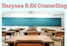 Haryana B.Ed Counselling