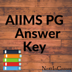 AIIMS PG Answer Key