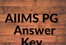 AIIMS PG Answer Key