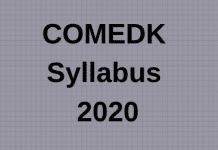 COMEDK Syllabus 2020