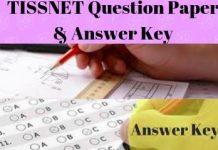 TISSNET Question Paper & Answer Key