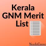 Kerala GNM Merit List