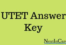 UTET Answer Key