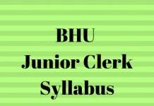 BHU Junior Clerk Syllabus
