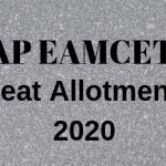 AP EAMCET Seat Allotment 2020