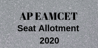 AP EAMCET Seat Allotment 2020