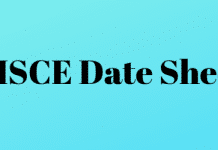 CISCE Date Sheet