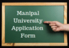Manipal University Application Form