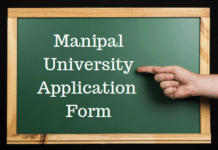 Manipal University Application Form