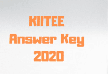 KIITEE Answer Key 2020
