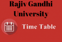 RGU Time Table