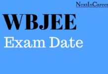 WBJEE Exam Date