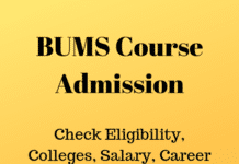 BUMS Course Admission
